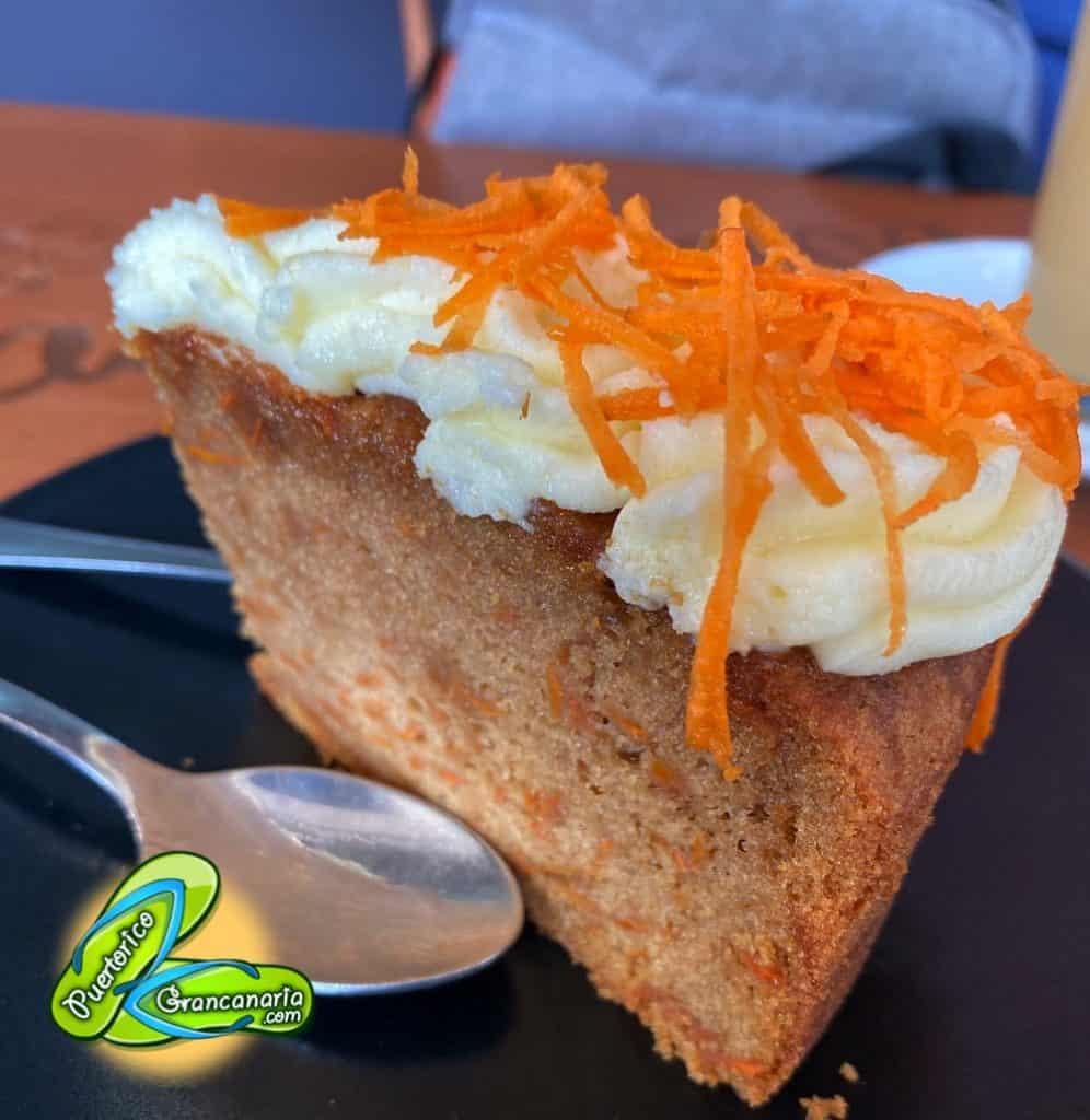 Carrot Cake at Cafe Regina Mogan Mall Puerto Rico Gran Canaria