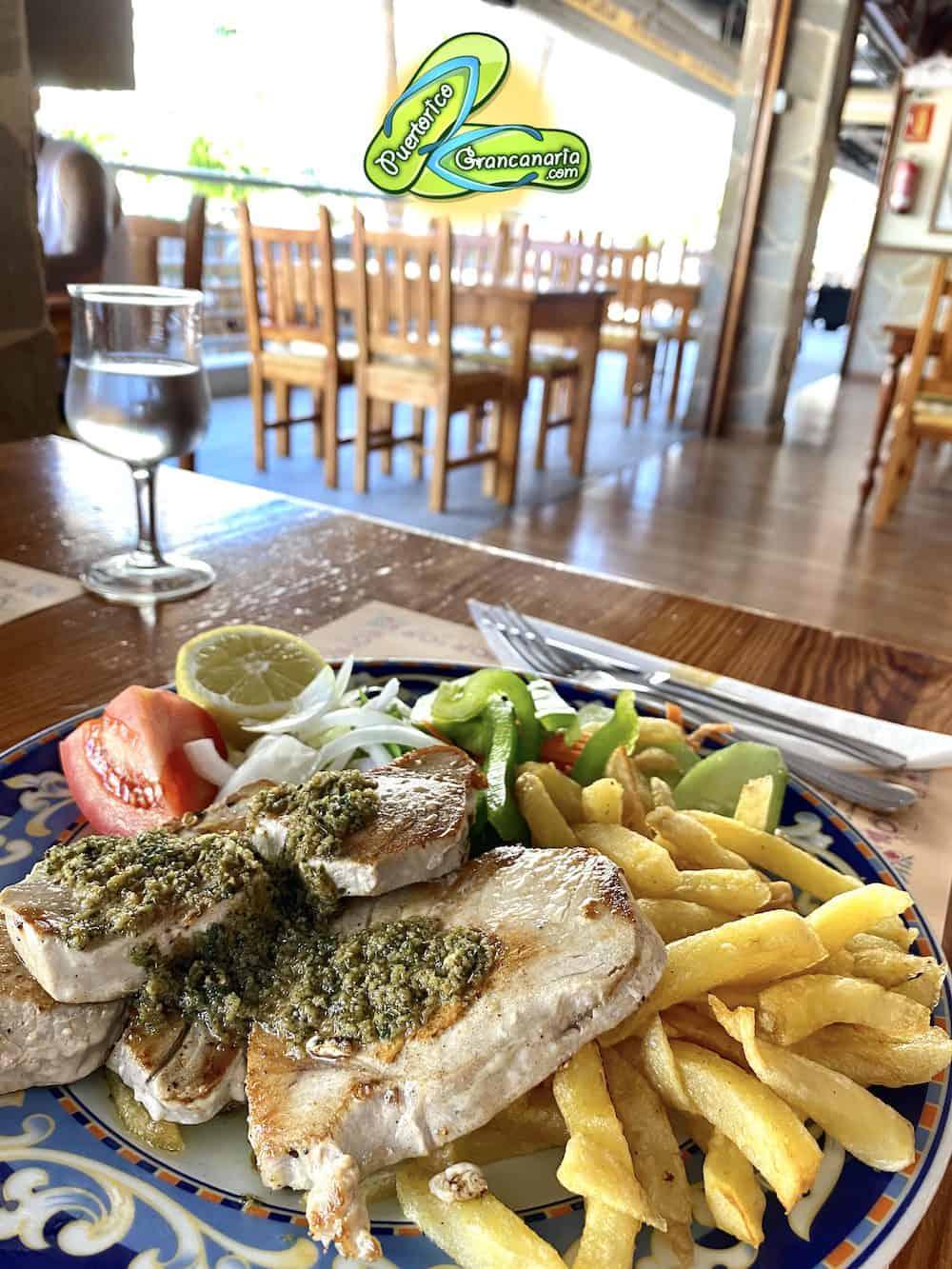 Grilled Tuna Steak | Atún a la plancha at Balcon Canario Restaurant Puerto Rico Gran Canaria